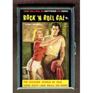 Rock n Roll Gal Fun Pulp ID Holder, Cigarette Case or Wallet MADE IN