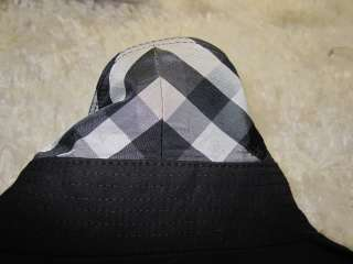 NWT AUTHENTIC BURBERRY OF LONDON BLACK TRENCH NOVA CHECK COAT sz 10.