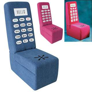 Contemporary Cell Phone Stash Chair / Plush / Kid