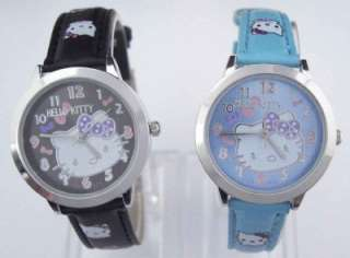pcs Hello Kitty Student Wrist Watch Child 5 Color Lot of Mix