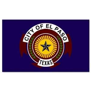El Paso Texas City Flag car bumper sticker window decal 5