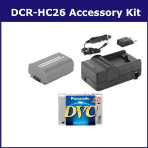 Sony DCR HC26 Camcorder Accessory Kit includes DVTAPE Tape/ Media