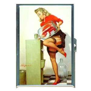 PIN UP GIRL OFFICE WATER COOLER ID Holder, Cigarette Case