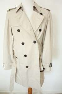 Mens Burberry London Belted Khaki Trench Coat Nova Check New NWT 38R