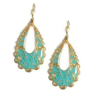 Catherine Popesco 14K Gold Plated Large Open Teardrop Earrings with