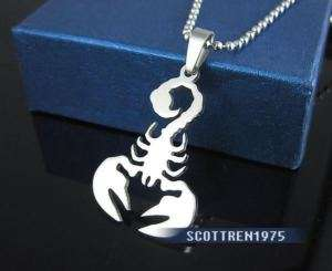 Stainless Steel Polished Scorpion Pendant w/chain
