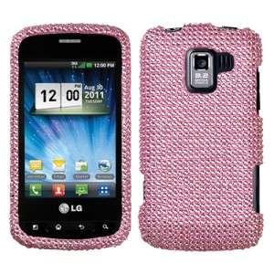 Crystal Diamond BLING Hard Case Phone Cover for LG Enlighten Optimus Q