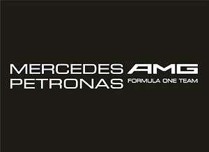Mercedes GP F1 Team Vinyl Window Sticker/Decal (White)