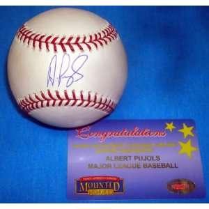 ALBERT PUJOLS Cardinals Signed MLB Baseball + MM COA