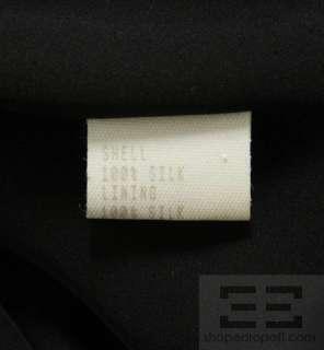 Carolina Herrera Black Silk Butterfly Sleeve Long Gown Size 10
