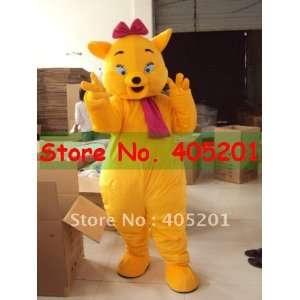 yellow cat mascot costume cat costumes Toys & Games