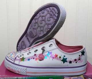NIB Skechers Shuffles Speckles Girls Shoes 2 5.5 $50