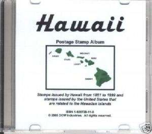 Hawaii CD Specialist Album   Color Stamp Images!