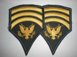 US ARMY SPECIALIST 7 RANK PRE 1966 CUT EDGED  1 PAIR
