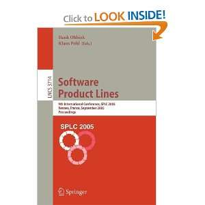 Software Product Lines 9th International Conference, SPLC