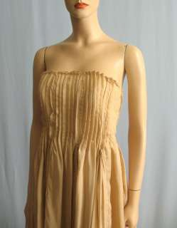 Haute Hippie Strapless Pleated Chiffon Dress M NWT $595 NoBELT