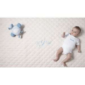 ON SALE Kensington Baby Play Mat   Ivory with Blue
