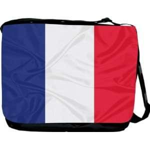 Rikki KnightTM France Flag Messenger Bag   Book Bag