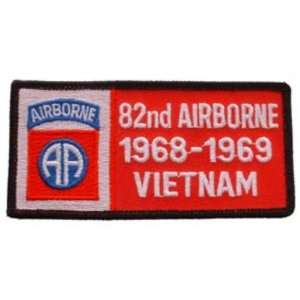 U.S. Army 82nd Airborne 1968 1969 Vietnam Patch 1 3/4 x 4