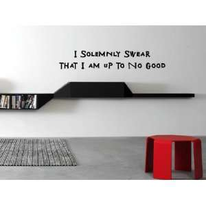 I Solemnly Swear That I Am Up To No Good Vinyl Wall Decal
