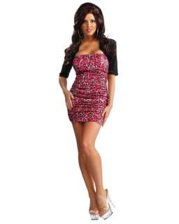 Jersey Shore   Snooki Leopard Pink Dress   Costume