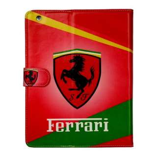 Executive FERRARI Leather Flip Case/Cover/Stand for Apple iPad 2