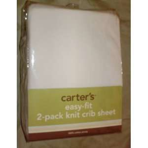 Carters Easy fit 2 pack Knit Crib Sheets White Baby