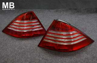 Mercedes Benz W220 Tail Light 01 05 Red Chrome Clear