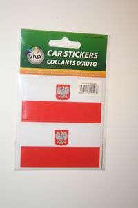 POLAND COUNTRY FLAG SMALL BUMPER STICKERS POLSKA NEW