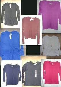 New~Ladies Long Sleeve T Shirt Small Medium Large XL