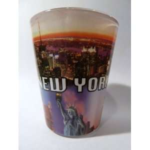 New York City Postcard 317 Shot Glass Kitchen & Dining