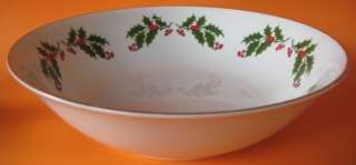 Holly All The Trimming 1 Round Vegetable Bowl White Cherries Porcelain