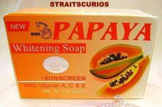 skin whitening soap specially formulated with Papaya extracts that