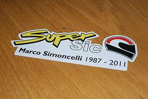 Marco Simoncelli Decal/Sticker