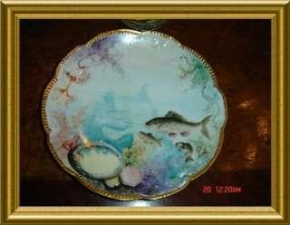 ANTIQUE LIMOGES Haviland,AK, Porcelain Fish Set 20 Pcs.