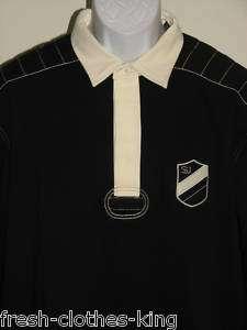 SEAN JOHN New Mens $68 Black Rugby Polo Shirt Choose Sz