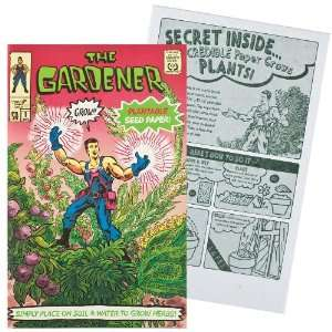 Comic Book Plantable Paper   The Gardener Toys & Games