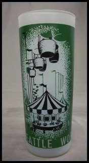 1962 SEATTLE WORLDS FAIR GLASS WORLD OF ENTERTAINMENT