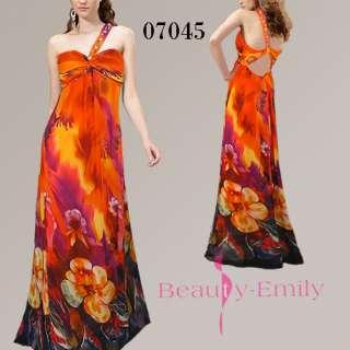 shoulder Long Party Dresses Evening Gown Maxi Fashion Dress 07045 SZ M