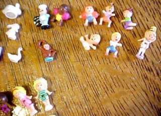 Vintage Blue Bird Polly Pocket Compacts & Houses + Dolls etc.