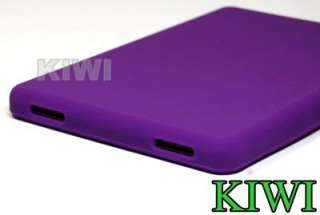 Protector+ Purple Silicone Gel Skin Case Cover For  Kindle Fire