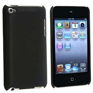 on Rubber Coated Case Compatible With Apple iPod Touch 4th Gen, Black