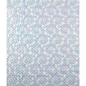 Light Blue Sequin Lace Fabric Arts, Crafts & Sewing