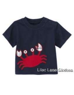Gymboree Crab Shack U Pik Shirt Shorts NWT 3 6 12 18 24