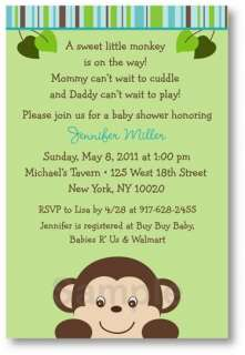 Little Monkey Baby Shower Invitation Print Your Own