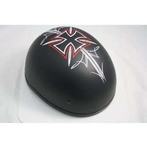 Skid Lid U 70 FLAT Half Helmet Large for Harley Davidson & Custom