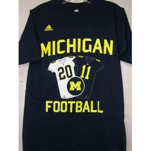 Michigan Wolverines Adidas 2011 Jersey Schedule Blue T shirt
