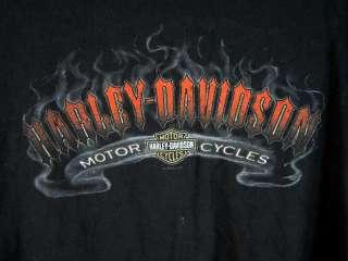 vtg Harley Davidson logo motorcycle biker Tee shirt black canyon USA