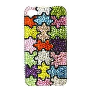 Puzzle Design Pattern Bling Apple IPhone 4 Case Cover