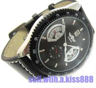 China Wholesale New Black Deluxe Army Military Auto Mechanical Mens
